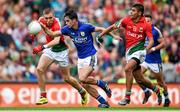 24 August 2014; Cormac Coffey, Kerry, in action against Sharoize Akram, Mayo. Electric Ireland GAA Football All-Ireland Minor Championship, Semi-Final, Kerry v Mayo, Croke Park, Dublin. Picture credit: Stephen McCarthy / SPORTSFILE