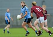 30 August 2014; Noelle Healy, Dublin, in action against Catriona Cormican, Galway. TG4 All-Ireland Ladies Football Senior Championship, Semi-Final, Dublin v Galway, Cusack Park, Mullingar, Co. Westmeath. Picture credit: Oliver McVeigh / SPORTSFILE