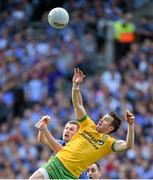 31 August 2014; David Walsh, Donegal, in action against Jack McCaffrey, Dublin. GAA Football All Ireland Senior Championship, Semi-Final, Dublin v Donegal, Croke Park, Dublin. Picture credit: Brendan Moran / SPORTSFILE