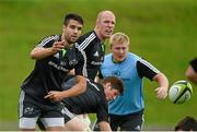 1 September 2014; Munster's Conor Murray in action during squad training ahead of their Guinness PRO12 round 1 match against Edinburgh on Friday. Munster Rugby Squad Training, University of Limerick, Limerick. Picture credit: Diarmuid Greene / SPORTSFILE