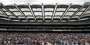 30 August 2014; Supporters in the Davin Stand during the game. Croke Park Classic 2014, Penn State v University of Central Florida. Croke Park, Dublin. Picture credit: Pat Murphy / SPORTSFILE