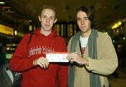 8 December 2006; Members of the Irish team Mark Kirwan, left, and Mick Clohisey at Dublin airport prior to the Irish Athletics Team's departure to Italy for the European Cross Country Championships. Dublin Airport, Dublin. Picture credit: Brendan Moran / SPORTSFILE