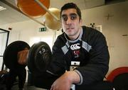 10 January 2007; Ulster's Kieran Campbell ahead of their Heineken Cup game against Llanelli Scarlets. Newforge Country Club, Belfast, Co. Antrim.  Picture credit: Oliver McVeigh / SPORTSFILE