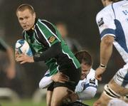 12 January 2007; Paul Warwick, Connacht, is tackled by Chris Malone, Bath. European Challenge Cup, Round 5, Connacht v Bath, Sportsground, Galway. Picture credit: Ray Ryan / SPORTSFILE *** Local Caption ***