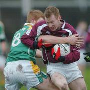 14 January 2007; Micahel Comer, Galway, in action against Gary McCloskey, Leitrim. FBD Connacht League, Round 2, Galway v Leitrim, Tuam Stadium, Tuam, Galway. Picture credit: Ray Ryan / SPORTSFILE *** Local Caption ***