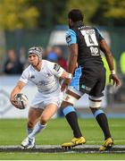 6 September 2014; Isaac Boss, Leinster, in action against Leone Nakarawa, Glasgow Warriors. Guinness PRO12, Round 1, Glasgow Warriors v Leinster. Scotstoun Stadium, Glasgow, Scotland. Picture credit: Stephen McCarthy / SPORTSFILE