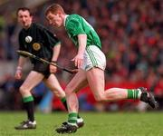 16 June 1996; Ciaran Carey of Limerick during the Munster GAA Hurling Senior Championship Semi-Final match between Limerick and Clare at Gaelic Grounds in Limerick. Photo by Ray McManus/Sportsfile
