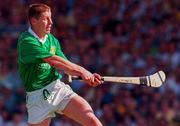 16 June 1996; Ciaran Carey of Limerick scores the winning point during the Munster GAA Hurling Senior Championship Semi-Final match between Limerick and Clare at Gaelic Grounds in Limerick. Photo by David Maher/Sportsfile