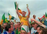 24 July 1994; Declan Darcy of Leitrim celebrates with supporters following the Connacht GAA Football Senior Championship Final match between Leitrim and Mayo at Dr Hyde Park in Roscommon. Photo by David Maher/Sportsfile