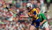 16 June 1996; Ger O'Loughlin of Clare during the Munster GAA Hurling Senior Championship Semi-Final match between Limerick and Clare at Gaelic Grounds in Limerick. Photo by David Maher/Sportsfile