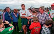 Mayo manager John Maughan with supporters following a training session. Photo by Ray McManus/Sportsfile