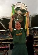 26 September 1999; Meath manager Sean Boylan lifts the Sam Maguire Cup following the Bank of Ireland All-Ireland Senior Football Championship Final between Meath and Cork at Croke Park in Dublin. Photo by Ray McManus/Sportsfile