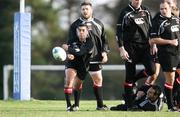 10 January 2007; Ulster's Kieran Campbell in action during rugby squad training. Newforge Country Club, Belfast, Co. Antrim. Picture credit: Oliver McVeigh / SPORTSFILE
