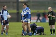 28 January 2007; Darren Rooney, Laois, is sent off by referee Derek Fahy. O'Byrne Cup Final, Laois v Dublin, O'Connor Park, Tullamore, Co. Offaly. Picture Credit: David Maher / SPORTSFILE