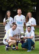 11 September 2014; A host of Kilmacud Crokes stars, past and present, were on hand in Kilmacud Crokes as the 2014 FBD 7's was launched. This is the 42nd year of Ireland's premier 7's tournament which has become a firm favourite in the GAA calendar for both players and supporters alike. In attendance at the 2014 FBD7s launch, clockwise from left, Dublin footballer Molly Lamb, former Dublin footballer Mark Vaughan, Ann Marie McBarron, Kilmacud Crokes, former Donegal footballer Mark McHugh and former Dublin footballer Darren Magee. Kilmacud Crokes GAA Club, Burke Park, Glenalbyn, Stillorgan, Co. Dublin. Picture credit: Brendan Moran / SPORTSFILE