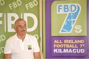 11 September 2014; A host of Kilmacud Crokes stars, past and present, were on hand in Kilmacud Crokes as the 2014 FBD 7's was launched. This is the 42nd year of Ireland's premier 7's tournament which has become a firm favourite in the GAA calendar for both players and supporters alike. Speaking at the 2014 FBD7s launch is Andy Kettle, Chairman, Dublin County Board. Kilmacud Crokes GAA Club, Burke Park, Glenalbyn, Stillorgan, Co. Dublin. Picture credit: Brendan Moran / SPORTSFILE