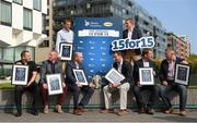 15 September 2014; Pictured at a function to celebrate the Best 15 Hurlers over the last 15 years, a joint initiative between Liberty Insurance and Today FM, are: Colin Lynch, Clare; John Mullane, Waterford; Ben O'Connor, Cork; DJ Carey, Kilkenny; Brendan Cummins, Tipperary; Ollie Canning, Galway; Ken McGrath, Waterford; and Diarmuid O'Sullivan, Cork. Not pictured due to training commitments are Kilkenny's Jackie Tyrell, JJ Delaney, Tommy Walsh, Derek Lyng, Henry Shefflin and Eddie Brennan and Tipperary's Eoin Kelly. Thousand of votes were cast by members of the public before an expert panel of judges, comprising of Galway Hurling Captain Joe Canning; former Dublin Hurling Manager Anthony Daly; former Cork and Limerick Hurling Manager John Allen; former Kilkenny Hurling player DJ Carey, Liberty Insurance CEO Patrick O'Brien; Today FM Sports Editor John Duggan; Today FM Sports Reporter Paul Collins; and Today FM Presenter Matt Cooper, decided on the winning 15 for 15. The Marker Hotel, Dublin. Picture credit: Pat Murphy / SPORTSFILE