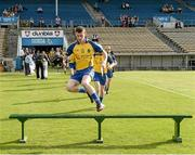 13 September 2014; Robbie Fallon, Roscommon, jumps the bench. Bord Gáis Energy GAA Hurling Under 21 All-Ireland 'B' Championship Final, Roscommon v Kildare. Semple Stadium, Thurles, Co. Tipperary. Picture credit: Ray McManus / SPORTSFILE
