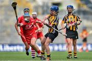 14 September 2014; Ann Dalton, Kilkenny, in action against Rena Buckley, Cork. Liberty Insurance All Ireland Senior Camogie Championship Final, Kilkenny v Cork, Croke Park, Dublin. Picture credit: Ramsey Cardy / SPORTSFILE