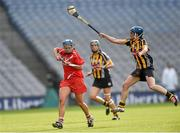 14 September 2014; Eimear O'Sullivan, Cork, in action against Ann Dalton, Kilkenny. Liberty Insurance All Ireland Senior Camogie Championship Final, Kilkenny v Cork, Croke Park, Dublin. Picture credit: Paul Mohan / SPORTSFILE