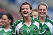 14 September 2014; Limerick's Rebecca Delee after the game. All Ireland Intermediate Camogie Championship Final, Kilkenny v Limerick, Croke Park, Dublin. Picture credit: Ramsey Cardy / SPORTSFILE