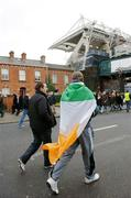 11 February 2007; A general view of supporters arriving outside Croke park before the game. RBS Six Nations Rugby Championship, Ireland v France, Croke Park, Dublin. Picture Credit: David Maher / SPORTSFILE