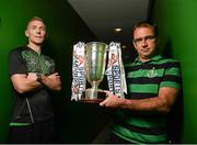 16 September 2014; Shamrock Rovers manager Pat Fenlon with Shamrock Rovers player Conor Kenna during a media day ahead of their EA Sports Cup Final on Saturday. FAI Headquarters, Abbotstown, Dublin. Picture credit: David Maher / SPORTSFILE