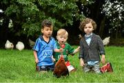 17 September 2014; In attendance at the launch of SuperValu's 'All Star' line up for the National Ploughing Championships are, from left, 'Mini Bernard Brogan' - Harley Smith, age 4, 'Mini Aidan O'Shea' - Noah Lynch, age 2, and 'Mini Paul Galvin' - Rocco Kelly, age 4,  SuperValu is building an entire village to showcase its commitment to growing local communities and plans to celebrate the very best fresh food available from its good food family of over 600 Irish, Signature Tastes and Food Academy producers over the three day event.  SuperValu's sourcing policy reflects a real commitment to buy from local producers and local farmers whenever possible, making SuperValu the number one retail supporter of the Irish food industry. Picture credit: Matt Browne / SPORTSFILE