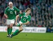 11 February 2007; Andrew Trimble, Ireland, supported by John Hayes. RBS Six Nations Rugby Championship, Ireland v France, Croke Park, Dublin. Picture Credit: Brendan Moran / SPORTSFILE