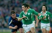 11 February 2007; David Wallace, Ireland, in action against Sylvain Marconnet, France. RBS Six Nations Rugby Championship, Ireland v France, Croke Park, Dublin. Picture Credit: Brendan Moran / SPORTSFILE