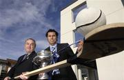 12 February 2007; GAA President Nickey Brennan, left, with Cork hurler Sean Og O hAilpin at the official launch of the Ulster Bank Fitzgibbon Cup. This is the first time ever that IT Carlow will host the Fitzgibbon Cup (Division One); the Ryan Cup (Division 2) and the Fergal Maher Cup (Division 3) which will be played in Carlow on Friday 9th and Saturday 10th March. Picture credit: Paul Mohan / SPORTSFILE  *** Local Caption ***