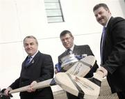 12 February 2007; At the official launch of the Ulster Bank Fitzgibbon Cup are, from left, President of the GAA, Nickey Brennan, with Dr. Ruaidhrai Neavyn, Director of IT Carlow, and Sean Healy, Managing Director Retail Markets Ulster Bank. This is the first time ever that IT Carlow will host the Fitzgibbon Cup (Division One); the Ryan Cup (Division 2) and the Fergal Maher Cup (Division 3) which will be played in Carlow on Friday 9th and Saturday 10th March. Picture credit: Paul Mohan / SPORTSFILE  *** Local Caption ***
