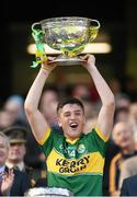 21 September 2014; Kerry captain Liam Kearney lifts the Tom Markham cup. Electric Ireland GAA Football All Ireland Minor Championship Final, Kerry v Donegal. Croke Park, Dublin. Picture credit: Stephen McCarthy / SPORTSFILE