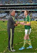 21 September 2014; Kerry selector Mikey Sheehy, left, congratulates Colm Cooper after the game. GAA Football All Ireland Senior Championship Final, Kerry v Donegal. Croke Park, Dublin. Picture credit: Brendan Moran / SPORTSFILE