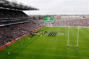 11 February 2007; A general view of Croke park as the teams line up for the national anthems before the game. RBS Six Nations Rugby Championship, Ireland v France, Croke Park, Dublin. Picture credit: Ray McManus / SPORTSFILE