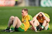 21 September 2014; Donegal's Anthony Thompson, left, and Dermot Molloy dejected at the final whistle. GAA Football All Ireland Senior Championship Final, Kerry v Donegal. Croke Park, Dublin. Picture credit: Ramsey Cardy / SPORTSFILE