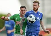 21 September 2014; Lee-J Lynch, Limerick FC, in action against Josh O'Shea, Cork City. SSE Airtricity League Premier Division, Limerick FC v Cork City. Thomond Park, Limerick. Picture credit: Diarmuid Greene / SPORTSFILE