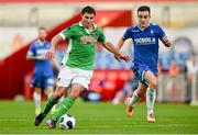 21 September 2014; Mark O'Sullivan, Cork City, in action against Shane Tracy, Limerick FC. SSE Airtricity League Premier Division, Limerick FC v Cork City. Thomond Park, Limerick. Picture credit: Diarmuid Greene / SPORTSFILE