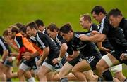 23 September 2014; Munster players, including Luke O'Dea, Cathal Sheridan, Greg O'Shea, Shane Buckley, Robin Copeland, and Barry O'Mahony, in action during squad training ahead of their side's Guinness PRO12, Round 4, match against Ospreys on Saturday. Munster Rugby Squad Training and Press Conference, University of Limerick, Limerick. Picture credit: Diarmuid Greene / SPORTSFILE