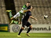 23 September 2014; Kieran Marty Waters,Shamrock Rovers, in action against Paddy Kavanagh, Bohemians. SSE Airtricity League Premier Division, Bohemians v Shamrock Rovers, Dalymount Park, Dublin. Picture credit: David Maher / SPORTSFILE