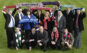 26 February 2007; The FAI's National Coordinator of the Club Promotion Officers Noel Mooney, 2nd from left front row, and the Director of the eircom League of Ireland Fran Gavin, 3rd from left front row, with the Football Association of Ireland Club Promotions Officers, back row, left to right; Patrick Collum, Longford Town, Declan White, St. Patricks Athletic., Julie-Ann Sherlock, Monaghan Utd., Daniel Walshe, Galway Utd., Sinéad Fraher, Sligo Rovers, Gerri O'Neill, Bohemians F.C., Terry Collins, Drogheda Utd., Paul Johnston, Dundalk F.C., Anthony Rooney, Bray Wanderers and Shane O'Hanlon, Limerick 37 F.C.. Front row, left to right; Adrian Desmond, Cork City, Noel Martin, Derry City and Dave Russell, Bohemians F.C. Radisson SAS St. Helen's Hotel, Stillorgan, Dublin. Picture credit: Ray McManus / SPORTSFILE