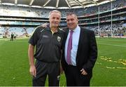 21 September 2014; Selector Mikey Sheehy, left, with Patrick O'Sullivan, Chairman of the Kerry County Board. GAA Football All Ireland Senior Championship Final, Kerry v Donegal. Croke Park, Dublin. Picture credit: Brendan Moran / SPORTSFILE