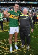 21 September 2014; Kerry's Aidan O'Mahony celebrates with kit man Vincent Linnane after the game. GAA Football All Ireland Senior Championship Final, Kerry v Donegal. Croke Park, Dublin. Picture credit: Brendan Moran / SPORTSFILE
