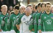 7 March 2004; The Limerick team stand for a minutes silence in memory of Tyrone's Cormac McAnallen ahead of the Allianz Football League Division 1B Round 4 match between Galway and Limerick at Duggan Park in Ballinasloe, Galway. Photo by Pat Murphy/Sportsfile