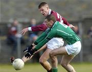 7 March 2004; John Devane of Galway in action against Tommy Stack of Limerick during the Allianz Football League Division 1B Round 4 match between Galway and Limerick at Duggan Park in Ballinasloe, Galway. Photo by Pat Murphy/Sportsfile