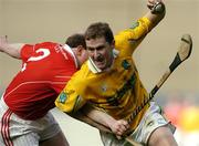 17 March 2004; Paddy Richmond, Dunloy, in action against John McCarthy, Newtownshandrum. AIB All-Ireland Club Hurling Final, Newtownshandrum v Dunloy, Croke Park, Dublin, Picture credit; Brendan Moran / SPORTSFILE   *EDI*