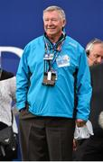 28 September 2014; Sir Alex Ferguson before the start on the Singles Matches. The 2014 Ryder Cup, Final Day. Gleneagles, Scotland. Picture credit: Matt Browne / SPORTSFILE