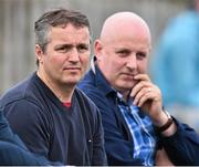 28 September 2014; Newly appointed joint Mayo managers Noel Connelly, left, and Pat Holmes look on from the stand during the game between Castlebar Mitchels and Garrymore. Mayo County Senior Football Championship, Semi-Final, Castlebar Mitchels v Garrymore, Elverys MacHale Park, Castlebar, Co. Mayo. Picture credit: David Maher / SPORTSFILE