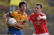 28 September 2014; Andrew Keane, Knockmore, in action against Diarmuid O'Connor, Ballintubber. Mayo County Senior Football Championship, Semi-Final, Ballintubber v Knockmore, Elverys MacHale Park, Castlebar, Co. Mayo. Picture credit: David Maher / SPORTSFILE