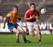 28 September 2014; Padraic O'Connor, Ballintubber, in action against Jason Clarke, Knockmore. Mayo County Senior Football Championship, Semi-Final, Ballintubber v Knockmore , Elverys MacHale Park, Castlebar, Co. Mayo. Picture credit: David Maher / SPORTSFILE